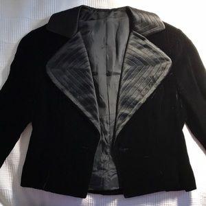 Vintage 50's Black Velvet Cropped Blazer
